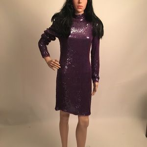 Dresses & Skirts - 80s Vintage Glam Purple Sequin Dress